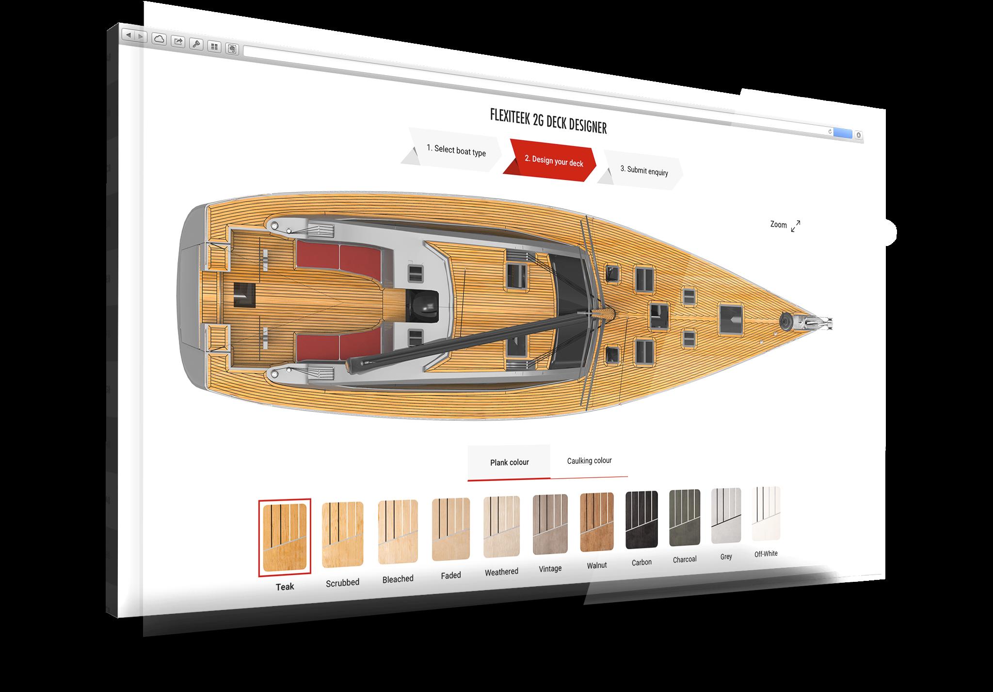 Design your dream Sailing Boat Deck